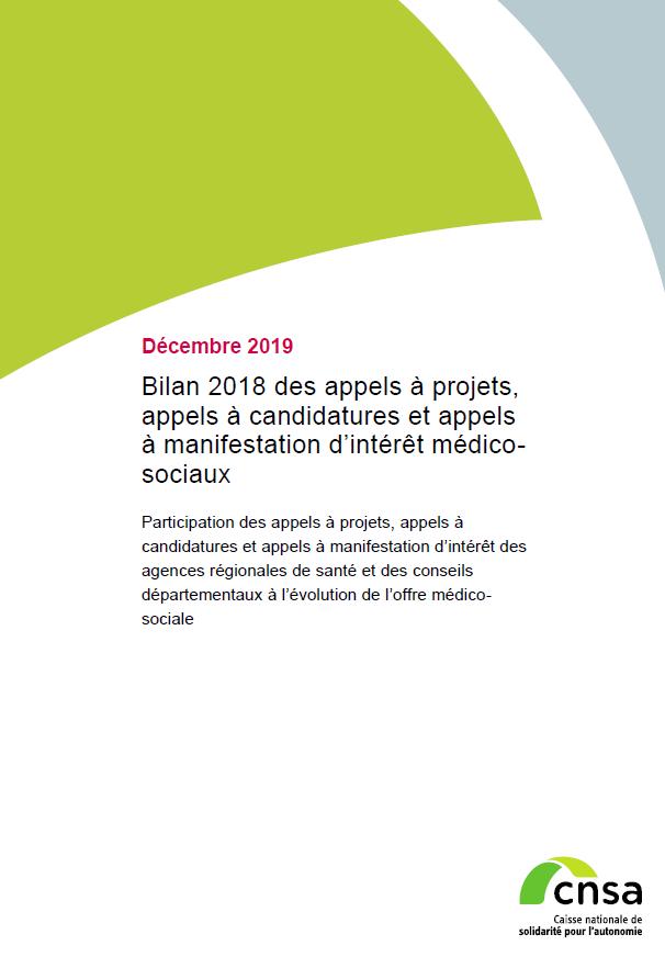 Bilan 2018 des appels à projets, appels à candidatures et appels à manifestation d'intérêt médico-sociaux (PDF, 816.75 Ko)
