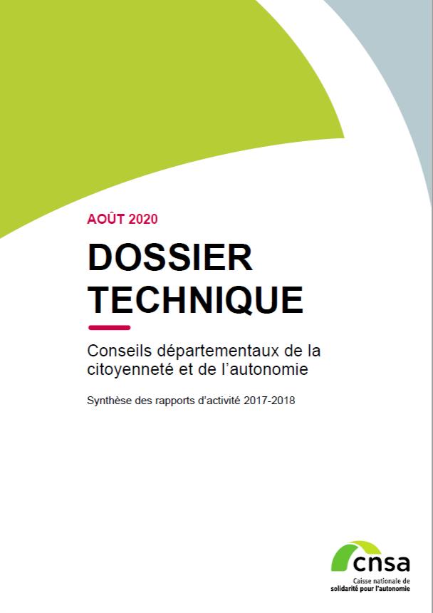 Conseils départementaux de la citoyenneté et de l'autonomie. Synthèse 2017-2018 - accessible (PDF, 2.17 Mo)