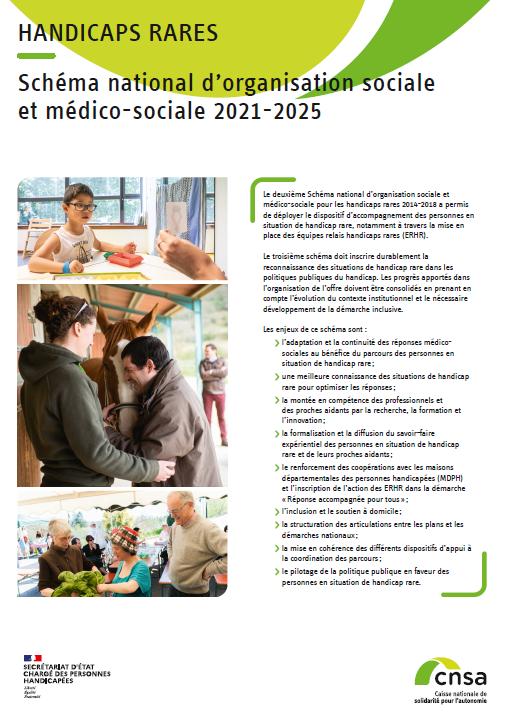 Handicaps rares. Schéma national d'organisation sociale et médico-sociale 2021-2025. Synthèse - accessible (PDF, 3.2 Mo)