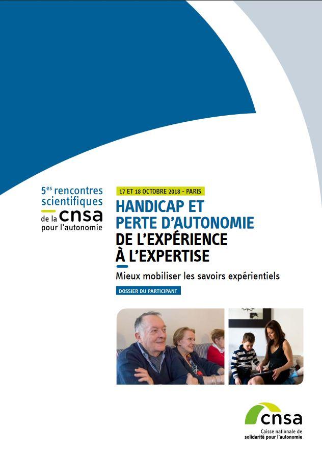 Dossier du participant des 5es rencontres scientifiques : de l'expérience à l'expertise (PDF, 1.2 Mo)