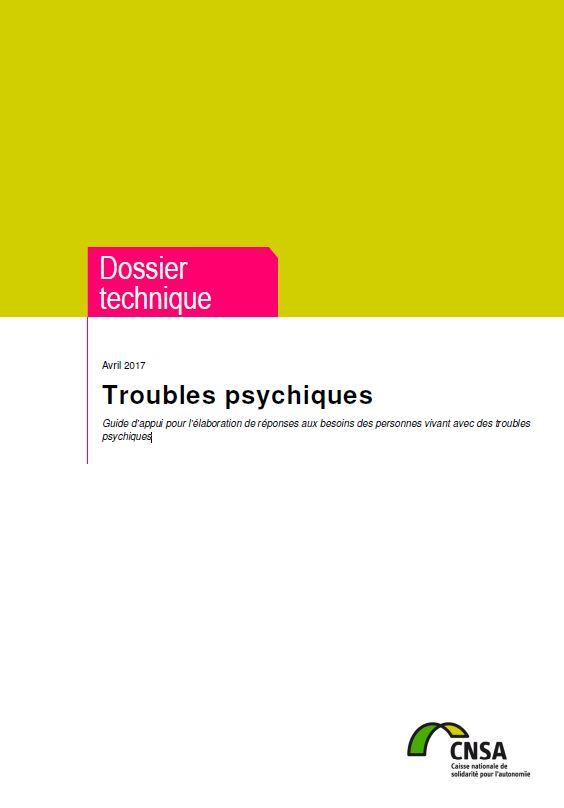 Troubles psychiques. Guide d'appui pour les professionnels des MDPH (PDF, 1.49 Mo)