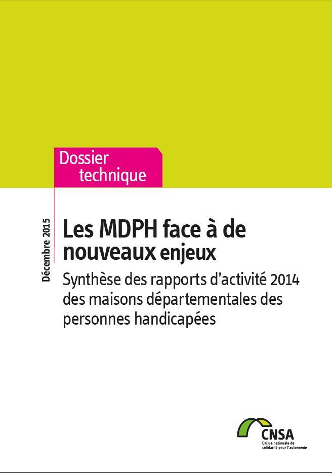 Rapport MDPH 2014 : Les MDPH face à de nouveaux enjeux (PDF, 3.73 Mo)