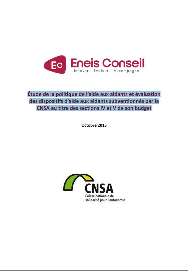 Étude de la politique d'aide aux aidants et évaluation des dispositifs d'aide aux aidants subventionnés par la CNSA (PDF, 1.42 Mo)