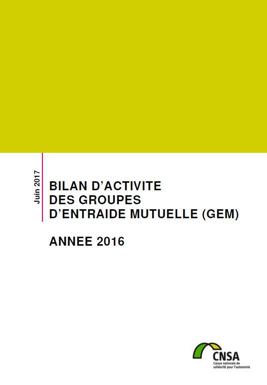 Bilan d'activité des groupes d'entraide mutuelle (GEM). Année 2016 (ZIP, 15.05 Mo)