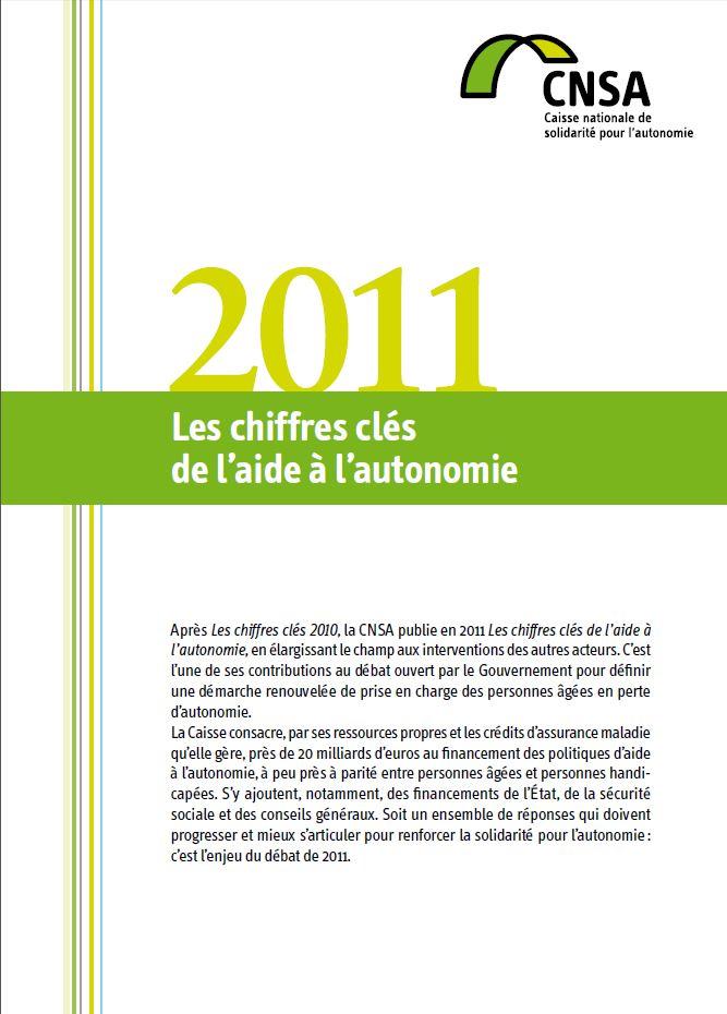 Les chiffres clés de l'aide à l'autonomie 2011 (PDF, 969.91 Ko)