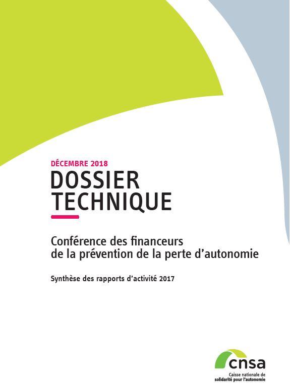 Conférence des financeurs de la prévention de la perte d'autonomie. Synthèse 2017 (PDF, 1.18 Mo)