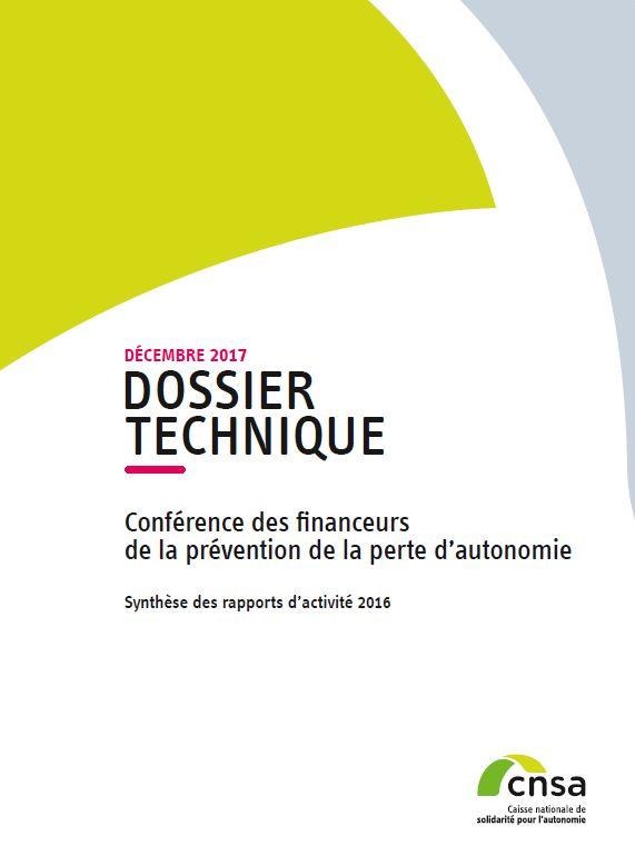 Conférence des financeurs de la prévention de la perte d'autonomie. Synthèse 2016 (PDF, 1.3 Mo)