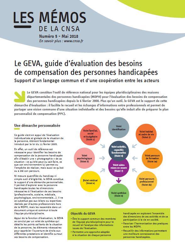 Mémo n°5 - Le GEVA, guide d'évaluation des besoins de compensation des personnes handicapées  - mai 2018 (PDF, 1.96 Mo)