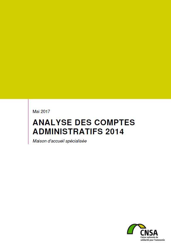 Les MAS. Analyse des comptes administratifs 2014 (ZIP, 3.87 Mo)