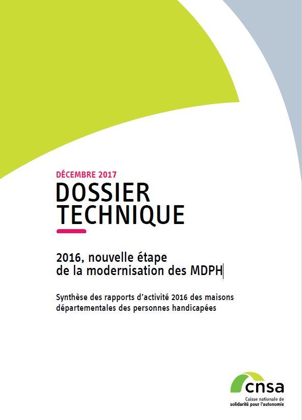 Rapport MDPH. 2016, nouvelle étape de la modernisation des MDPH (PDF, 3.71 Mo)
