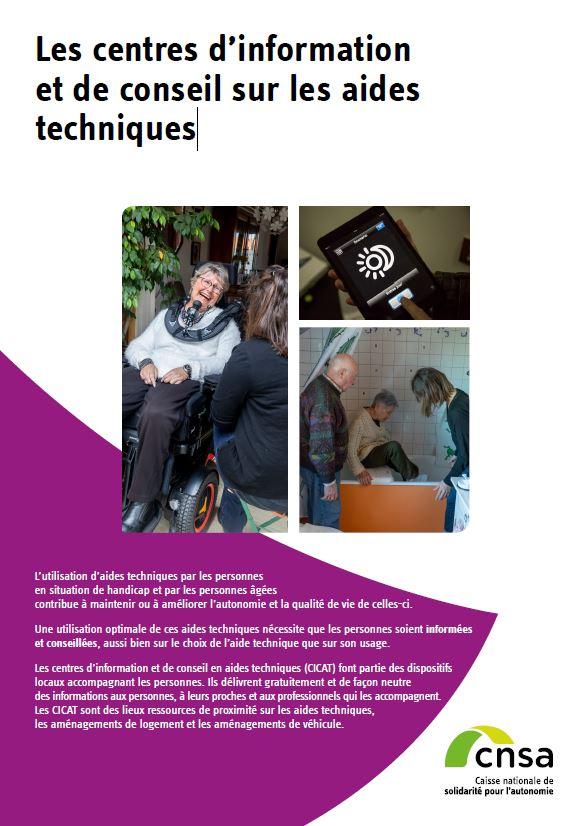 Les centres d'information et de conseil sur les aides techniques (PDF, 2.7 Mo)