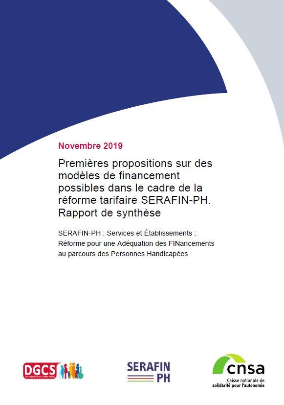 Premières propositions sur des modèles de financement possibles dans le cadre de la réforme tarifaire SERAFIN-PH. Rapport (PDF, 1.47 Mo)