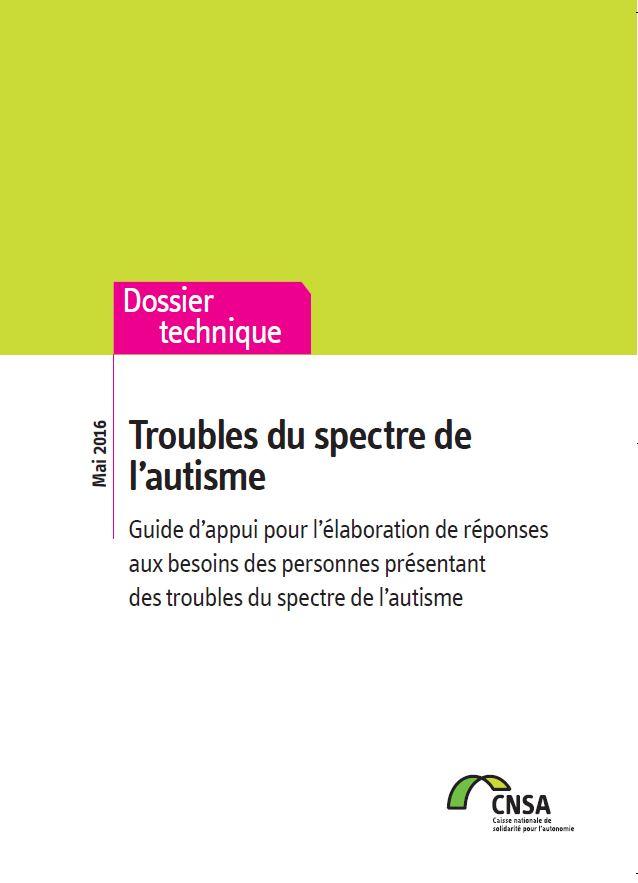 Troubles du spectre de l'autisme. Guide d'appui (PDF, 1.15 Mo)