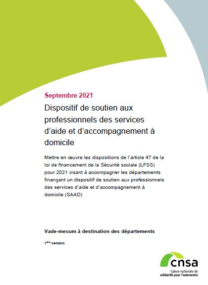 Vademecum sur le dispositif de soutien aux professionnels des services d'aide et d'accompagnement à domicile (PDF, 402.21 Ko)