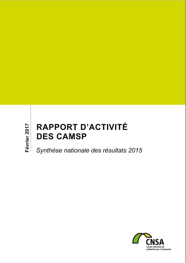 Rapport d'activité des CAMSP 2015 (PDF, 7.91 Mo)
