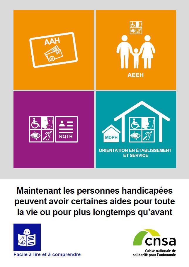 Maintenant les personnes handicapées peuvent avoir certaines aides pour toute la vie ou pour plus longtemps qu'avant (PDF, 935.56 Ko)