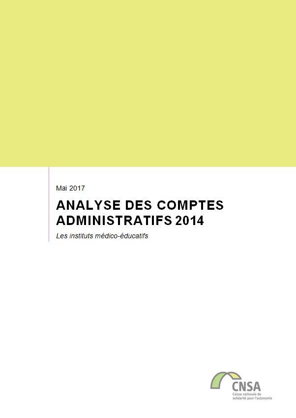 Les IME. Analyse des comptes administratifs 2014 (ZIP, 4.85 Mo)