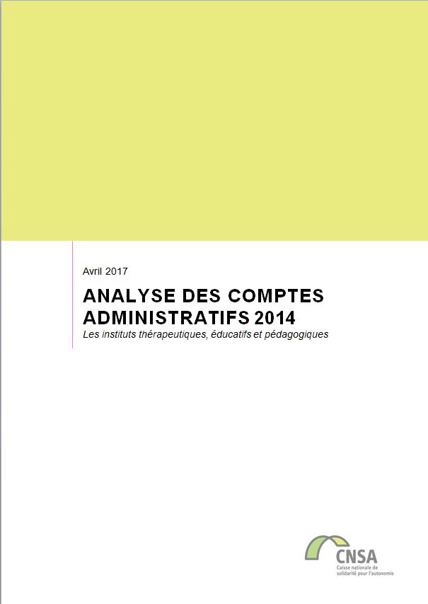 Les ITEP. Analyse des comptes administratifs 2014 (ZIP, 3.58 Mo)