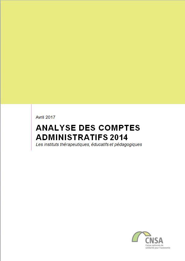Les ITEP. Analyse des comptes administratifs 2014 (ZIP, 3.58 Mo)