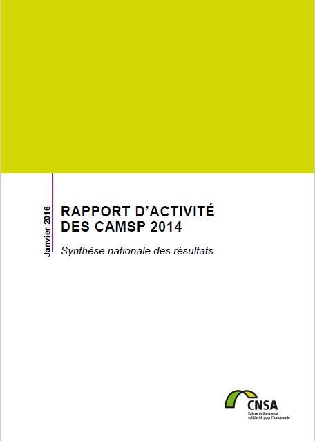Rapport d'activité des CAMSP 2014 (PDF, 6.52 Mo)