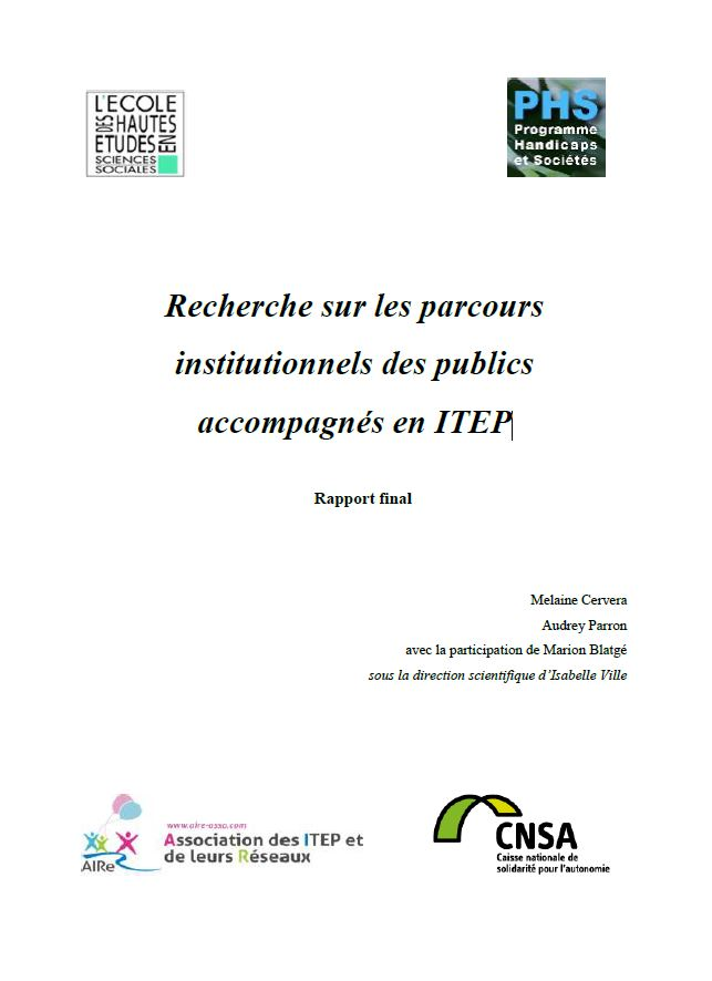 Recherche sur les parcours institutionnels des publics accompagnés en ITEP (ZIP, 4.1 Mo)