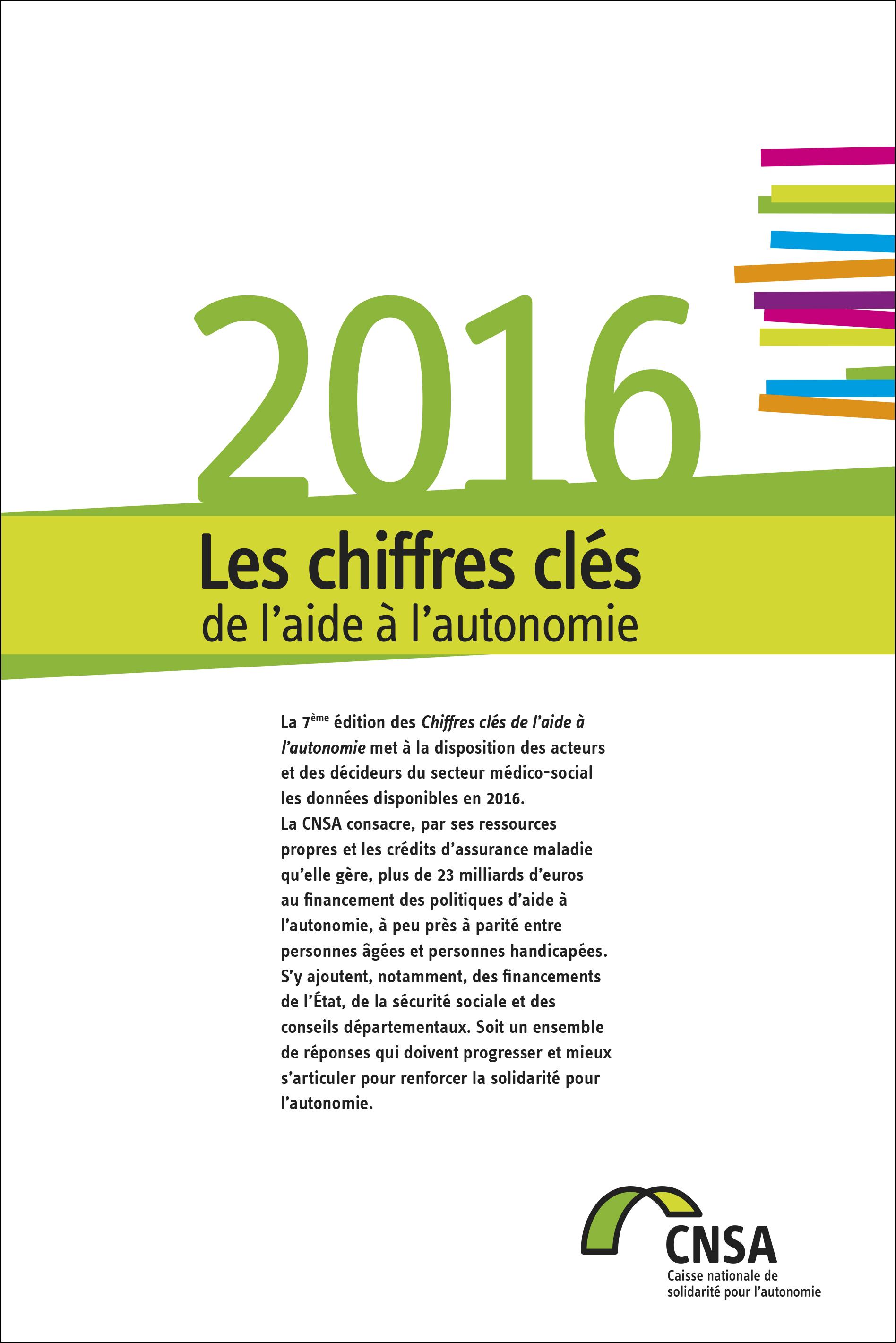 Les chiffres clés de l'aide à l'autonomie 2016 (PDF, 1.63 Mo)