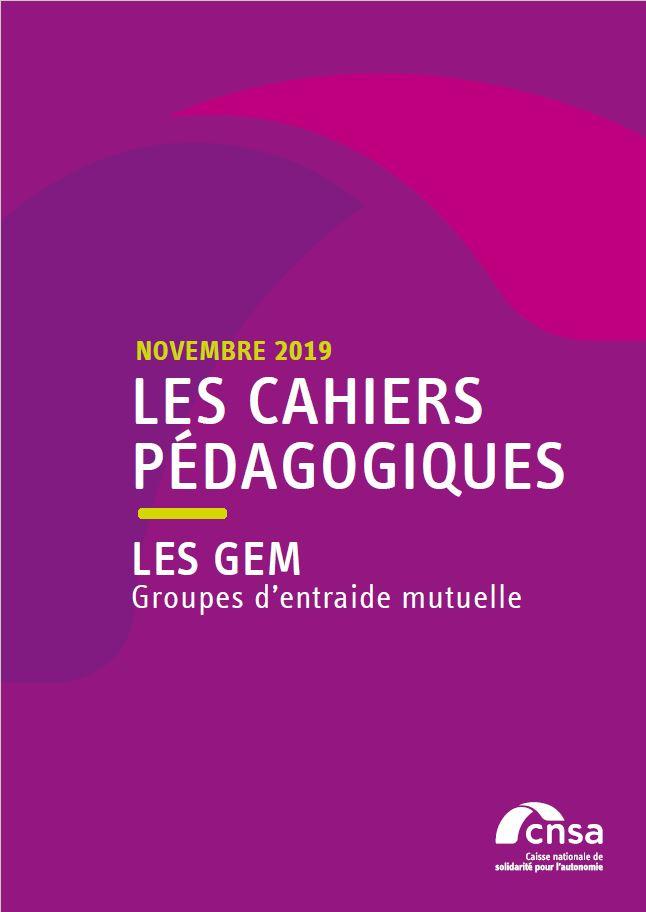 Les cahiers pédagogiques de la CNSA : Les GEM (PDF, 550.38 Ko)
