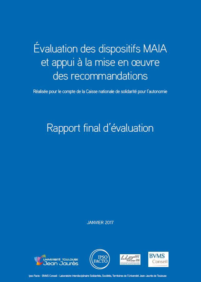 Rapport d'évaluation des dispositifs MAIA (ZIP, 4.68 Mo)
