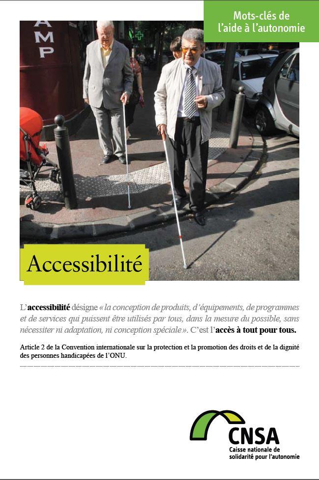 Mots-clés de l'aide à l'autonomie : Accessibilité (PDF, 768.94 Ko)