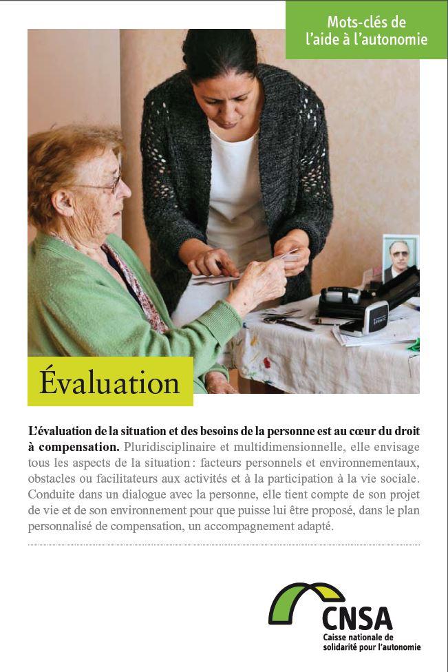 Mots-clés de l'aide à l'autonomie : Évaluation (PDF, 378.91 Ko)