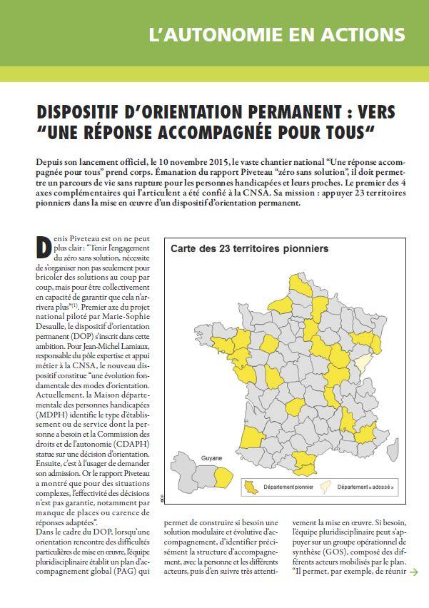 Mars 2016 : Dispositif d'orientation permanent : vers « une réponse accompagnée pour tous » (PDF, 403.25 Ko)