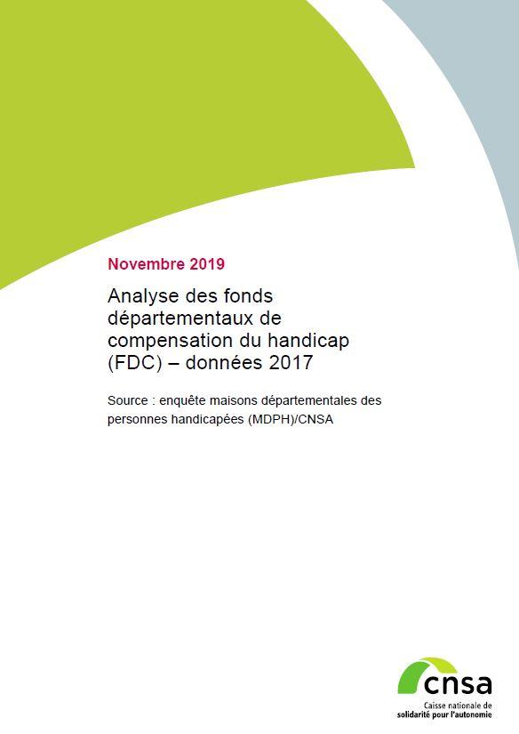 Analyse des fonds départementaux de compensation du handicap (FDC) – données 2017 (PDF, 1.49 Mo)