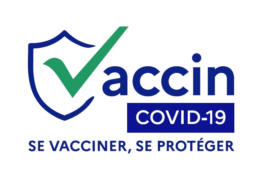 "Logo vaccination ""Vaccin Covid-19. se vacciner, se protéger"""