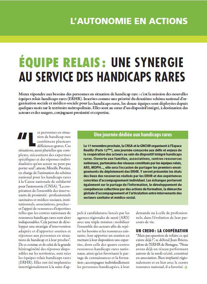 Septembre 2015 : Équipe relais, une synergie au service des handicaps rares (PDF, 198.37 Ko)