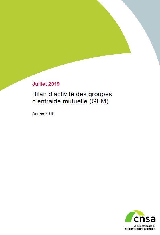Bilan d'activité des groupes d'entraide mutuelle (GEM). Année 2018 (PDF, 976.98 Ko)