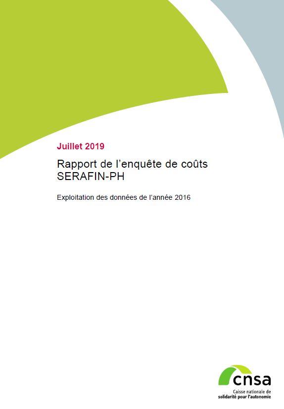 Rapport de l'enquête de coûts SERAFIN-PH. Exploitation des données de l'année 2016 (PDF, 836.69 Ko)