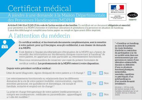 formulaire et certificat médical les nouveaux documents de