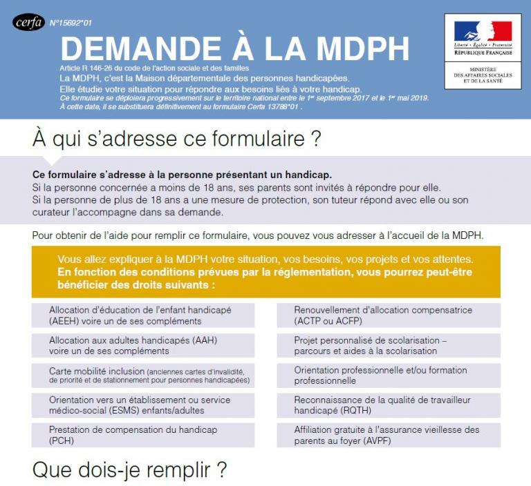 GRATUITEMENT TÉLÉCHARGER FORMULAIRE MDPH 93