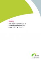 Situation économique et financière des EHPAD entre 2017 et 2018 (PDF, 2.07 Mo)