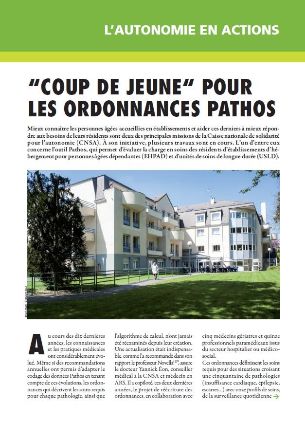 Janvier 2016 : coup de jeune pour les ordonnances Pathos (PDF, 1.52 Mo)